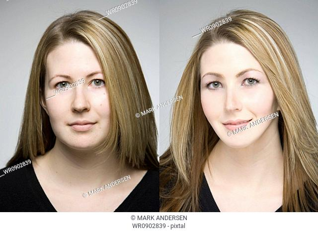 Before and after makeover photos