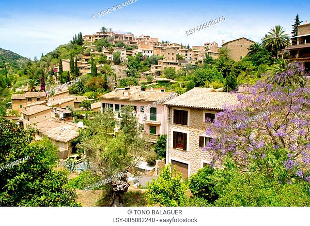 Deia typical stone village in Majorca Tramuntana