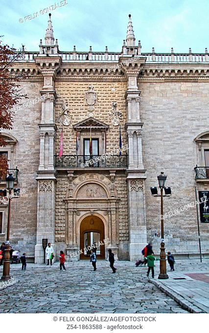 Facade of Palacio de Santa Cruz, Renaissance architecture, Valladolid, Castille and León, Spain
