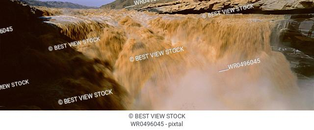 Shanxi Yellow River Hukou Waterfall