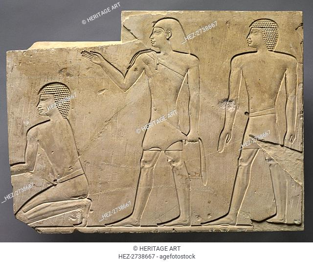 Priests Performing Funeral Rites, c. 667-647 BC. Creator: Unknown