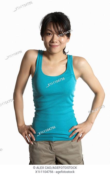 Asian woman in tanktop