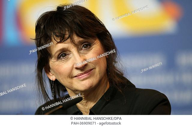 Canadian actress Pierrette Robitaille attends the press conference for the movie 'Vic+Flo Saw a Bear' ('Vic+Flo ont vu un ours') during the 63rd annual Berlin...