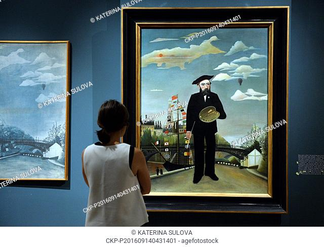 The first exhibition of the works of Henri Rousseau Painter's paradise lost at Kinsky Palace in Prague, Czech Republic, September 14, 2016