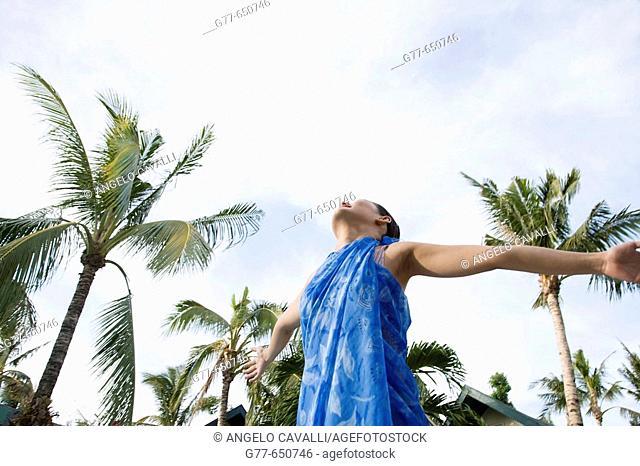 Philippines. Boracay. Philippino woman lifestyle