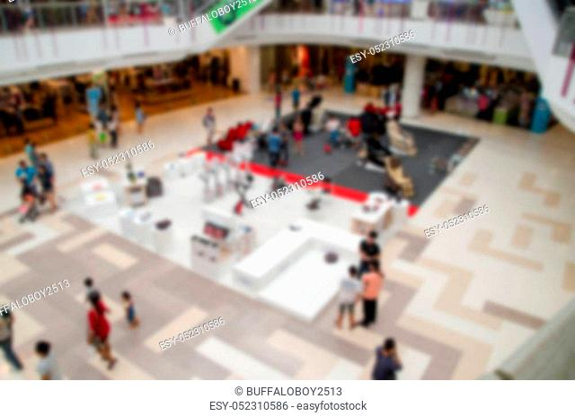 blur of shoppingmall and deparment for shopping