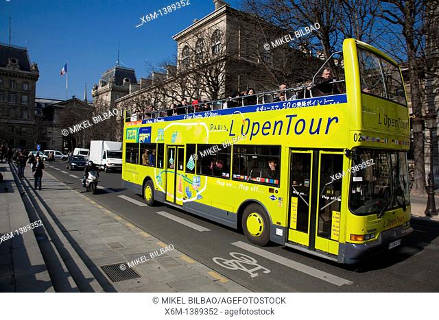 Tourist bus  Paris, France, Europe
