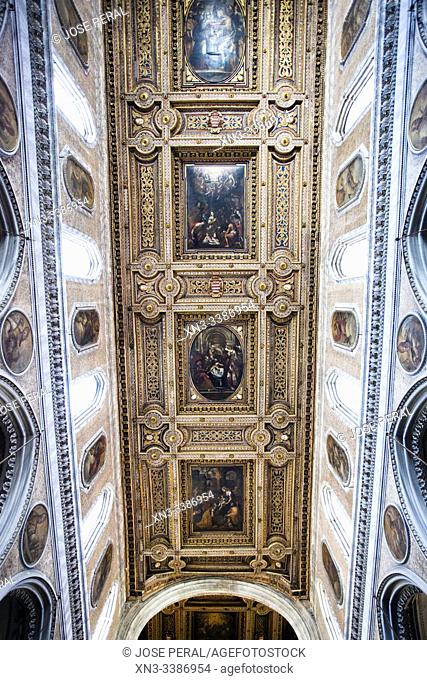 Naples Cathedral of the Assumption of Mary, Cattedrale di Santa Maria Assunta or Cattedrale di San Gennaro, Naples, Campania, Italy, Europe