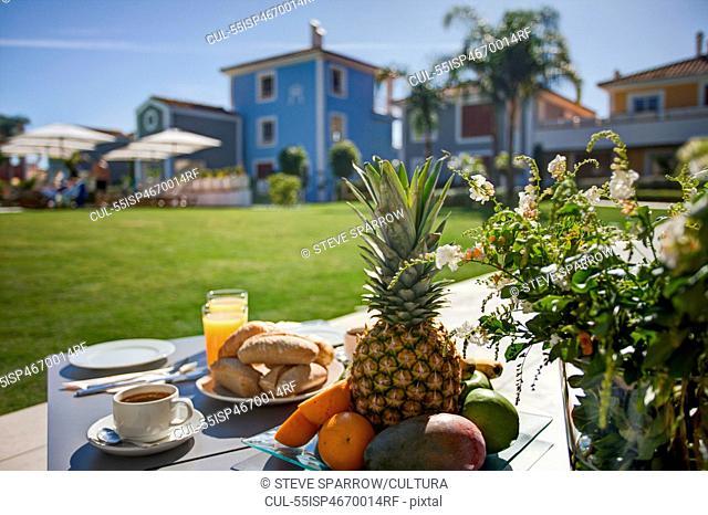 Breakfast at holiday resort