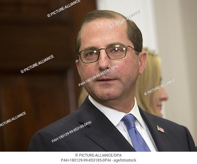 Alex Azar Listens During His Swearing In To Be Secretary Of The