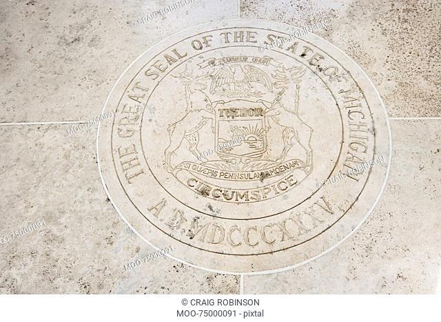 Seal of Michigan in Fort Bonifacio, Manila, Philippines