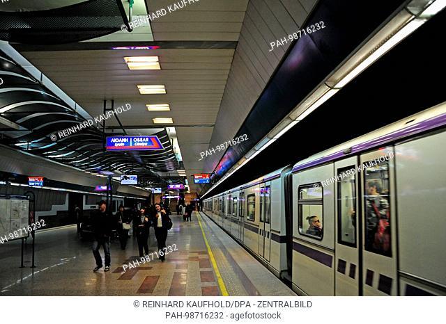 A view of the Serdika metro station in Sofia, pictured on 11.10.2017. | usage worldwide. - Sofia/Bulgaria