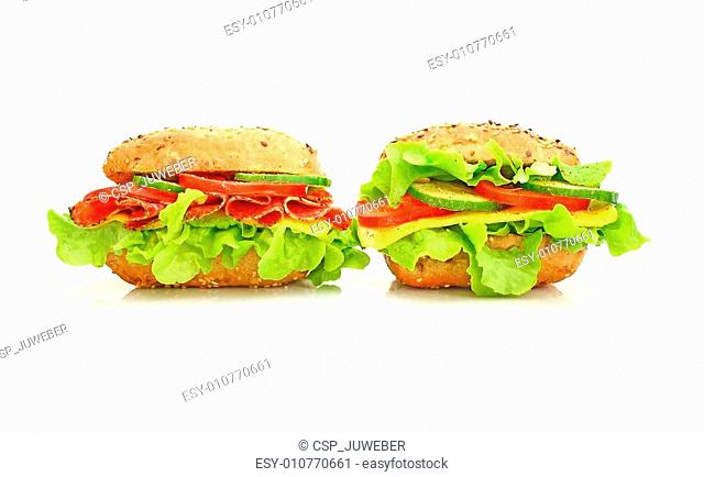 Fresh sandwich with vegetables
