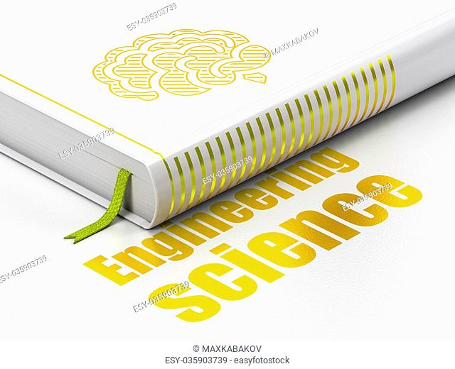 Science concept: book Brain, Engineering Science on white background