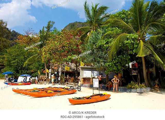 Beach bar at the Rai Leh West Beach, Krabi, Thailand