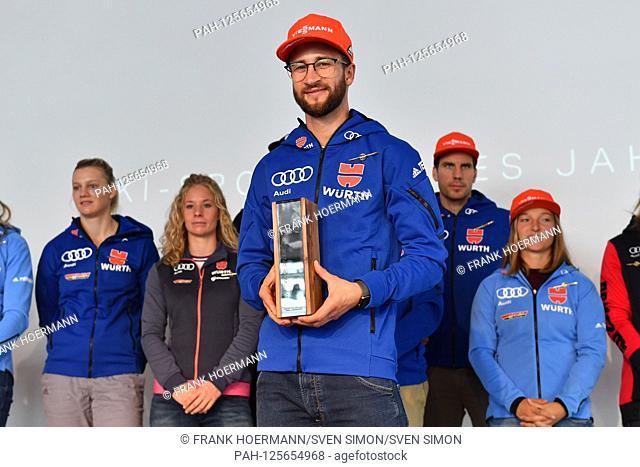 Honor DSV Skisportler of the year 2019 for ski jumper Markus EISENBICHLER. DSV, German Ski Association, Press appointment on the occasion of the clothing season...