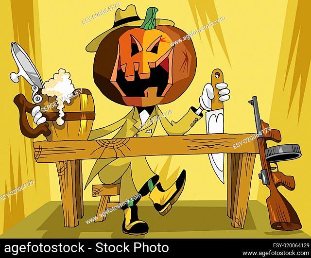 pumpkin at the bar