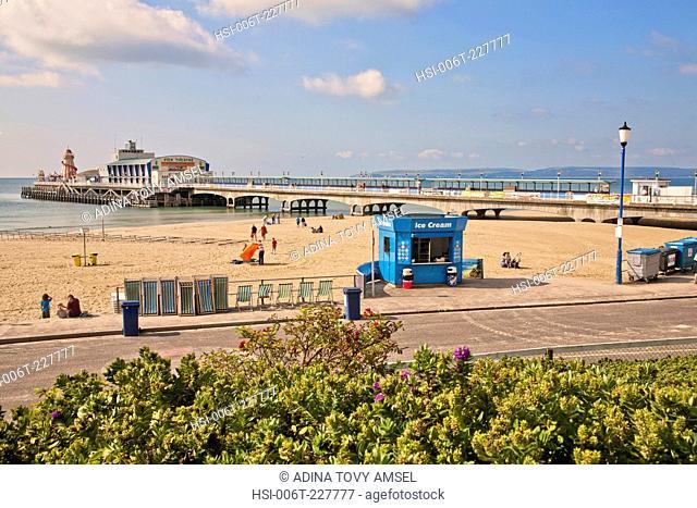 United Kingdom. England. Dorset. Bournemouth sea front and pier