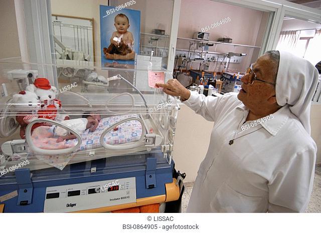 HOSPITAL, PALESTINE<BR>Photo essay for press only.<BR>The Filles de la Charité nursery and hospital in Bethlehem, Palestine