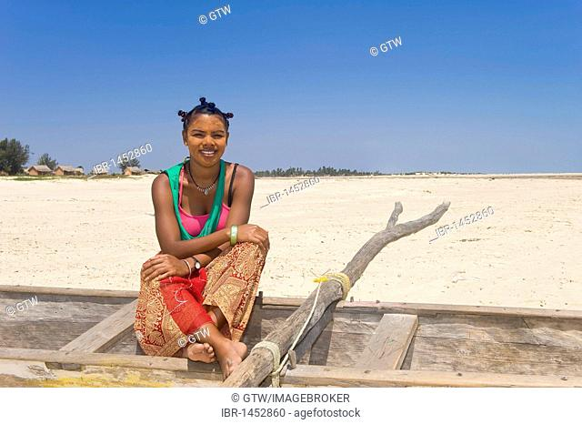 Young Malagasy woman, Morondava, Madagascar, Africa