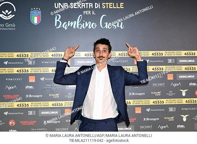 Fabrizio Biggio during the charity show ' Una serata di stelle' for the Hospital Bambino Gesu', Paul VI Hall, Vatican City, ITALY-20-11-2019