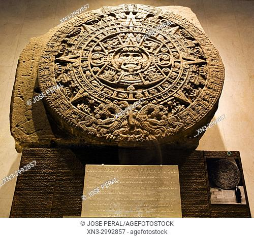 426a7149e4dd9 The Aztec Stone of the Sun, Sun Stone, National Anthropology Museum, Mexico  City, Mexico
