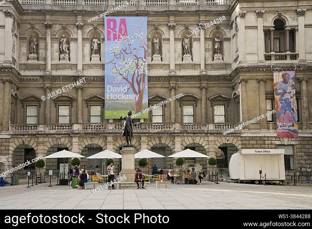 Royal Academy in the West End of London reopen after lockdown Covid-19/Coronavirus pandemia restrictions lifted in London, England, UK