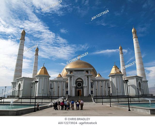 Saparmurat Niyazov (Turkmenbashi) mausoleum, near Ashgabat; Turkmenistan