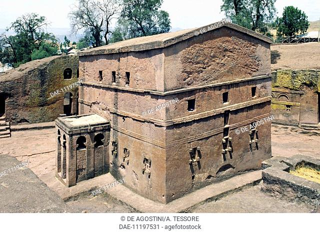 St Mary's church or Biete Maryam, Lalibela (UNESCO World Heritage List, 1978), Ethiopia, 12th century
