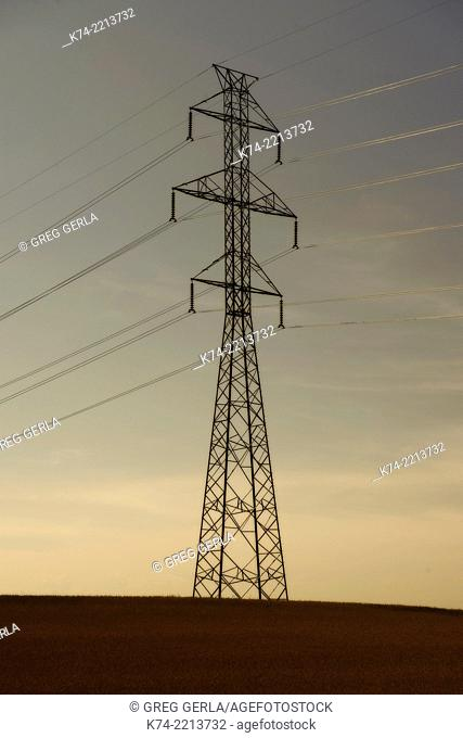 high tension electric powerline