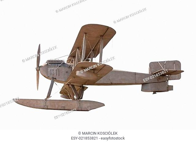 Biplane isolated on white background