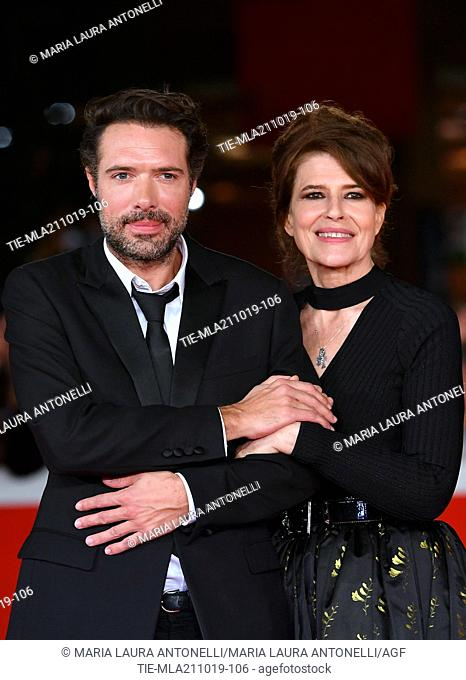 The director Nicolas Bedos and Fanny Ardant poses for the screening of 'La Belle Epoque' at the 14th annual Rome Film Festival, in Rome,ITALY-20-10-2019
