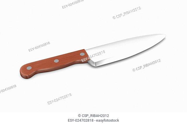 3d large kitchen knife