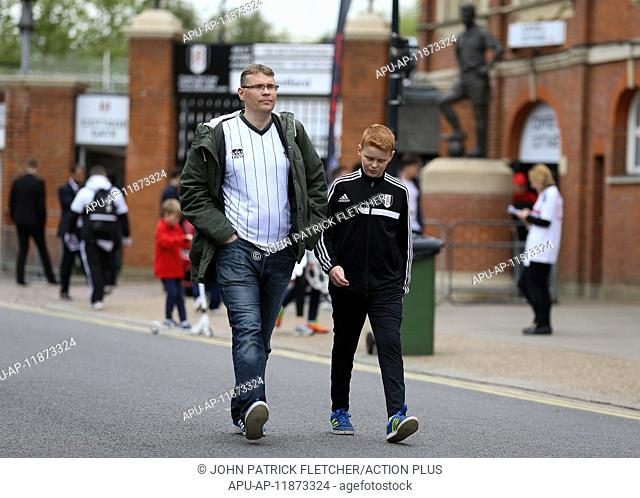 2017 Skybet Championship Fulham v Brentford Apr 29th. April 29th 2017, Craven Cottage, Fulham, London, England; Skybet Championship football