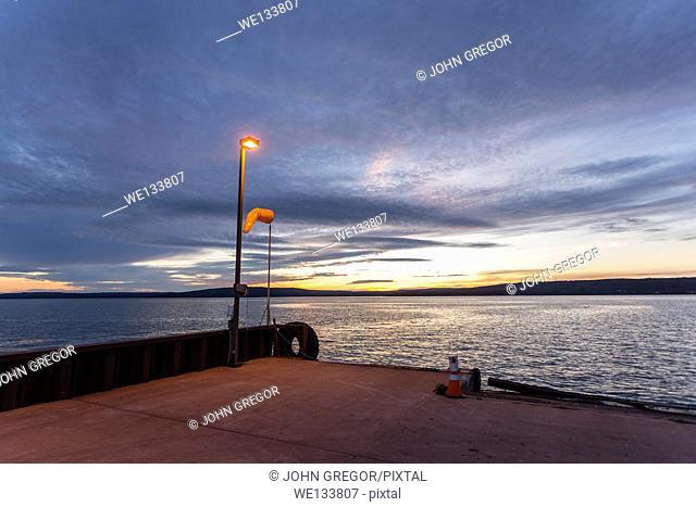 Sunset at Ferry Landing, Madeline Island, Wisconsin, Lake Superior
