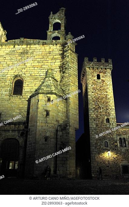 The church of San Mateo. XVIth century. Cáceres city, Spain