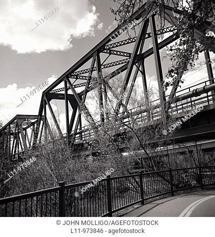 Steel bridge on Boise Greenbelt