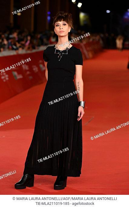 Ginevra Nervi during the red carpet of film ' Il ladro di giorni ' at the 14th Rome Film Festival, Rome, ITALY-20-10-2019