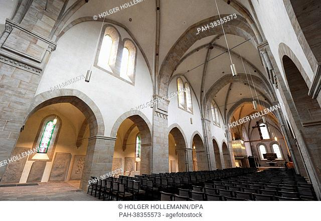 View of the monastery church in Loccum, Germany, 27 February 2013. On 21 March, the monastery celebrated its 850th anniversary