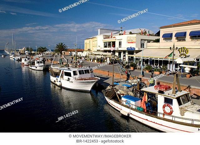 Harbour, Viareggio, Versilia, Riviera, Tuscany, Italy, Europe