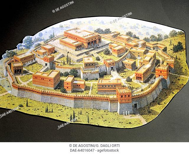 Reconstruction of the Homeric city of Troy, Turkey.  Private Collection