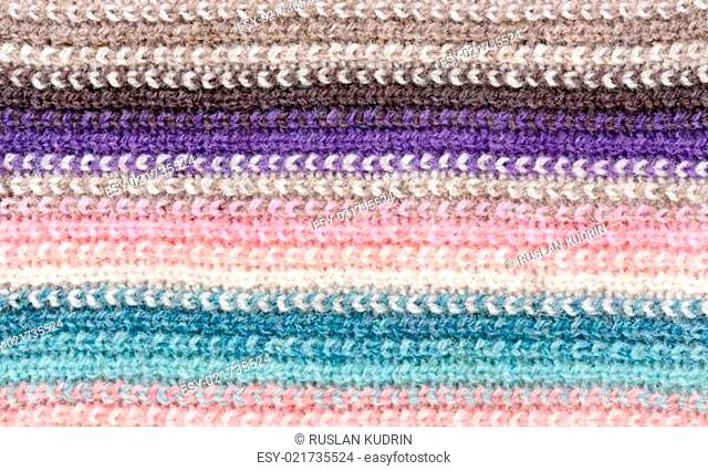 knitted striped colored background