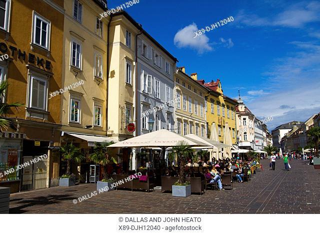 Europe, Austria, Carinthia, Klagenfurt am Worthersee, Alter Platz, Restaurant