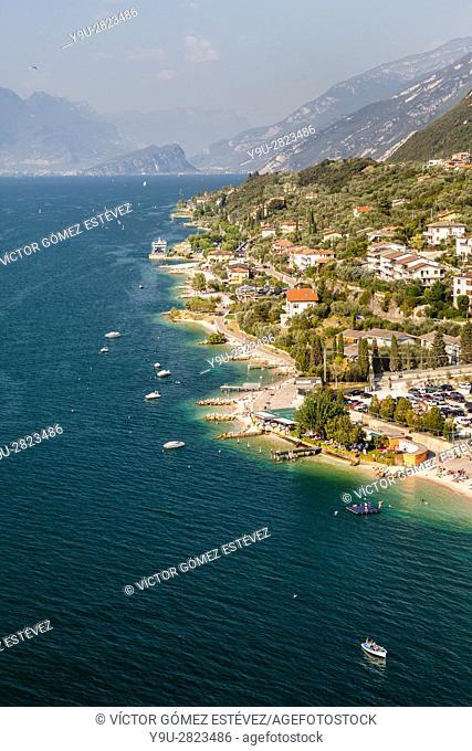 East coast of Lake Garda, Italy
