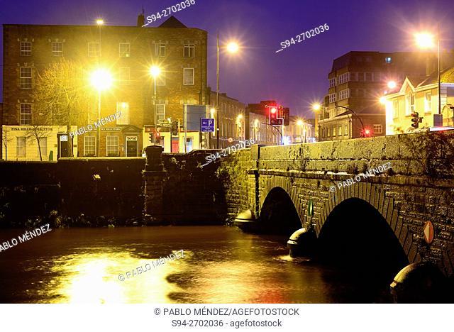 Bridge over Abbey river in Limerick, Ireland