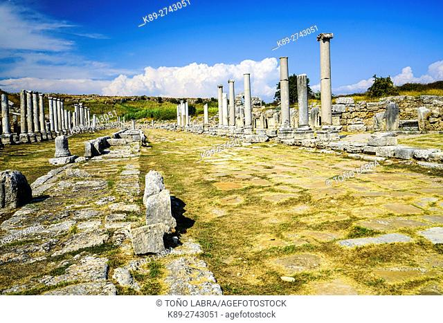 Channel Sourse of Perge, Old capital of Pamphylia Secunda. Ancient Greece. Asia Minor. Turkey