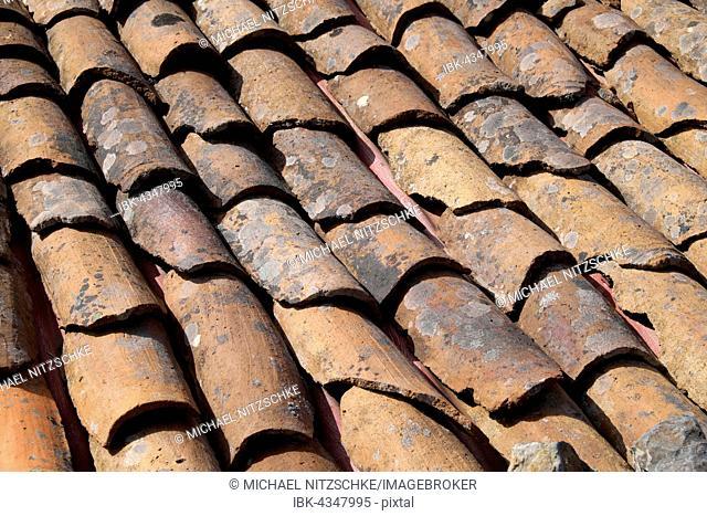 Old tile roof, La Gomera, Canary Islands, Spain