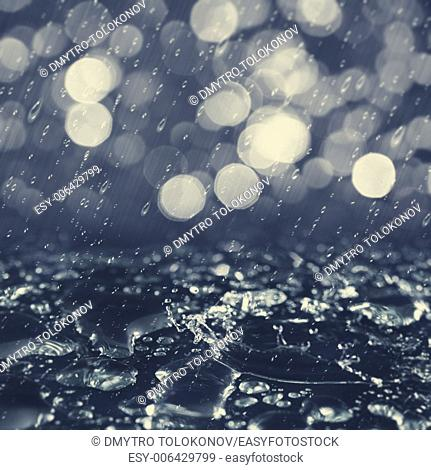 Autumnal rain, abstract environmental background