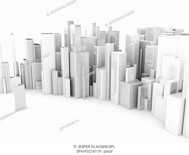 City, conceptual illustration