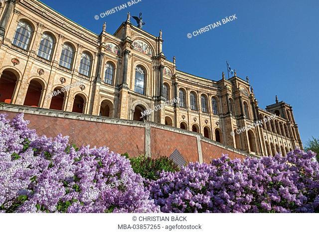 Maximilianeum, Munich, Lehel, Upper Bavaria, Bavaria, Germany